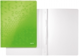 Dosar carton WOW cu sina, 250 coli, Leitz verde metalizat