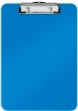 Clipboard simplu WOW, PS, A4, 80 coli, Leitz, albastru metalizat