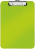 Clipboard A4 simplu 75 coli WOW Leitz verde metalizat