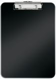 Clipboard simplu WOW, PS, A4, 80 coli, Leitz, negru metalizat