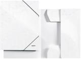 Mapa carton cu elastic WOW Leitz alb metalizat