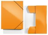 Mapa cu elastic WOW Leitz portocaliu metalizat