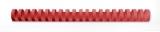 Spira plastic 21 inele 16 mm A4 rosu 145 coli 100 buc/set GBC