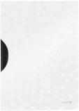 Dosar plastic A4 cu clip 30 coli PP ColorClip WOW Leitz alb metalizat