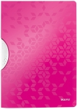 Dosar plastic A4 cu clip 30 coli PP ColorClip WOW Leitz roz metalizat