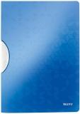 Dosar plastic A4 cu clip 30 coli PP ColorClip WOW Leitz albastru metalizat