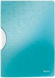 Dosar plastic A4 cu clip 30 coli PP ColorClip WOW Leitz turcoaz metalizat