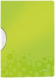 Dosar plastic A4 cu clip 30 coli PP ColorClip WOW Leitz verde metalizat