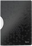 Dosar plastic A4 cu clip 30 coli PP ColorClip WOW Leitz negru metalizat