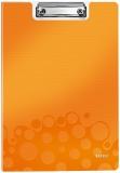 Clipboard A4 cu coperta 75 coli WOW Leitz portocaliu metalizat