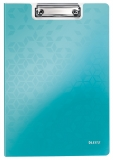 Clipboard cu coperta, WOW, PP, A4, 80 coli, Leitz turcoaz metalizat