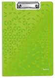 Clipboard cu coperta, WOW, PP, A4, 80 coli, Leitz verde metalizat
