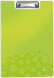 Clipboard A4 cu coperta 75 coli WOW Leitz verde metalizat