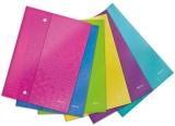 Folie de protectie color WOW cu capse, diverse culori, 6 buc/set Leitz