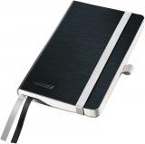 Caiet A6 de birou matematica coperta flexibila Style Leitz negru-satin