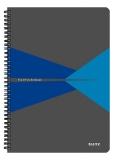 Caiet de birou Office, PP, A4, cu spira, matematica, albastru, Leitz