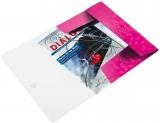 Mapa A4 cu elastic 150 coli PP WOW Leitz roz metalizat