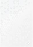 Caiet de birou WOW, A4, coperta dura, 80 coli, dictando, Leitz alb metalizat