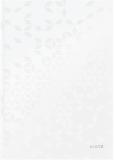 Caiet de birou WOW, A4, coperta dura, 80 coli, matematica, alb metalizat, Leitz