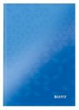 Caiet de birou WOW, A5, coperta dura, 80 coli, matematica, Leitz, albastru metalizat