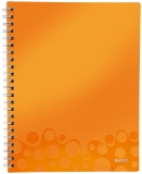 Caiet A4 de birou dictando 80 file Get Organized WOW Leitz portocaliu metalizat
