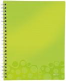 Caiet A4 de birou dictando 80 file Get Organized WOW Leitz verde metalizat