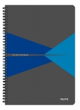 Caiet de birou Office, carton, A4, cu spira, dictando, albastru, Leitz