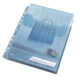Mapa 3/set A4 cu eticheta CombiFile Jumbo 200 microni albastru Leitz