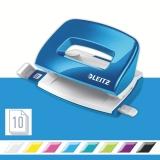 Perforator WOW 5060 mini NeXXt Series, 10 coli, albastru metalizat, Leitz