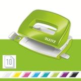 Perforator WOW 5060 mini NeXXt Series, 10 coli, verde metalizat, Leitz