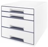 Cabinet cu 4 sertare WOW Leitz alb/gri