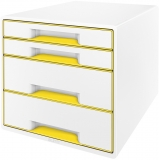 Cabinet cu 4 sertare WOW Leitz alb/galben