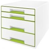 Cabinet cu 4 sertare WOW Leitz alb/verde