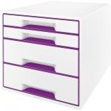 Cabinet cu 4 sertare WOW Leitz alb/mov