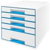 Cabinet cu 5 sertare WOW Leitz alb/albastru