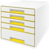 Cabinet cu 5 sertare WOW Leitz alb/galben
