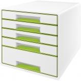 Cabinet cu 5 sertare WOW Leitz alb/verde