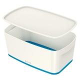 Cutie pentru depozitare MyBox mica cu capac Leitz alb/albastru