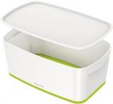 Cutie pentru depozitare MyBox mica cu capac Leitz alb/verde