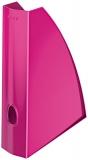 Suport vertical pentru documente WOW roz metalizat