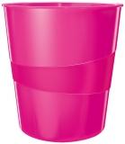 Cos de birou WOW Leitz roz metalizat