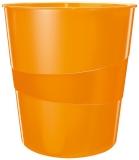 Cos de birou WOW Leitz portocaliu metalizat