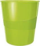 Cos de birou 15 litri WOW Leitz verde metalizat