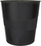 Cos de birou 15 litri WOW Leitz negru metalizat