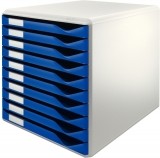 Suport cu 10 sertare albastre A4 standard Leitz