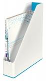Suport vertical in culori duale WOW Leitz albastru metalizat