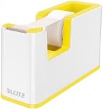 Dispenser banda adeziva WOW Leitz alb/galben
