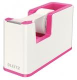 Dispenser banda adeziva WOW Leitz alb/roz
