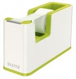 Banda adeziva cu dispenser WOW Leitz verde metalizat