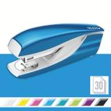 Capsator metalic, 5502 WOW NeXXt Series, 30 coli, albastru metalizat, Leitz